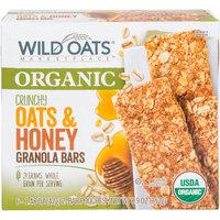 Wild Oats Marketplace Organic Crunchy Oats & Honey Granola Bars, 1.48 oz, 6 count