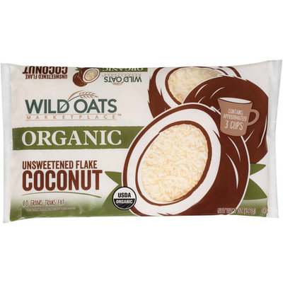 Wild Oats Marketplace Organic Unsweetened Flake Coconut, 7 oz