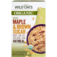 Wild Oats Marketplace Organic Maple & Brown Sugar Instant Oatmeal, 1.41 oz, 10 count