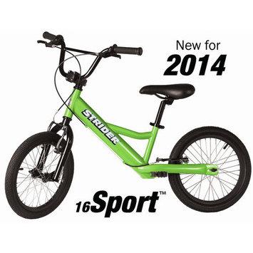 Strider 16 Sport Kids Bike-2015 Green, One Size