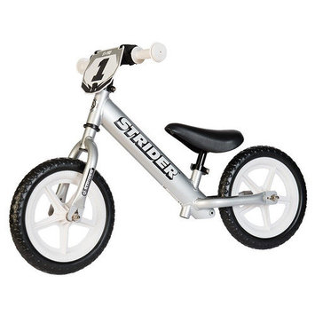 Strider Sports Strider 12 Pro No-Pedal Balance Bike - Silver