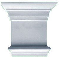 Ekena Millwork 8.28-in Primed Polyurethane Capital Accent CAP08X07X02TR