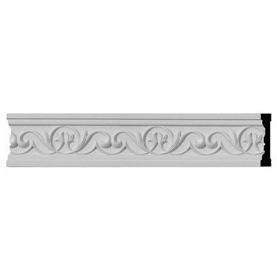 Ekena Millwork 0.75-in x 3.5-in x 12-ft Interior/Exterior Primed Polyurethane Chair Rail Moulding (Pattern 169503) CHA03X00AT