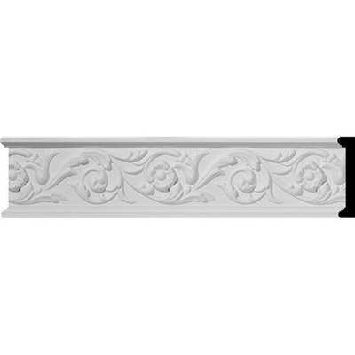 Ekena Millwork 0.75-in x 3.25-in x 12-ft Interior/Exterior Primed Polyurethane Chair Rail Moulding (Pattern 169498) CHA03X00DL