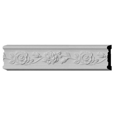 Ekena Millwork 0.75-in x 3.875-in x 12-ft Interior/Exterior Primed Polyurethane Chair Rail Moulding (Pattern 169509) CHA03X00RO