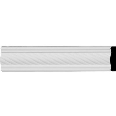 Ekena Millwork Classic Alexandria Rope 2.325-in x 7.88-ft Polyurethane Connector Wall Panel Moulding MLD02X00AL