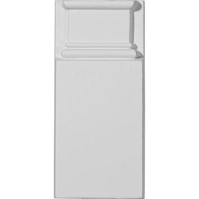 Ekena Millwork Jefferson 4.125-in x 9-in Polyurethane Plinth PB04X09X01JE