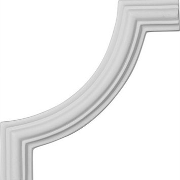 Ekena Millwork 5.125-in x 0.43-ft Polyurethane Panel Corner Picture Frame Moulding PML05X05CL