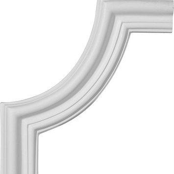 Ekena Millwork 10.5-in x 0.88-ft Polyurethane Panel Corner Picture Frame Moulding PML10X10SE