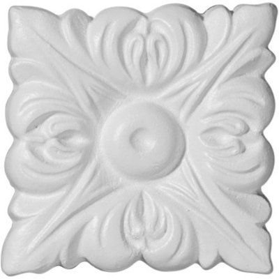 Ekena Millwork 2.52-in Primed Polyurethane Rosette Accent ROS02X02OX