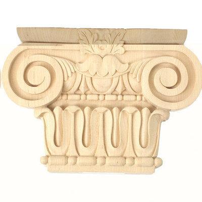 Ekena Millwork 6.96-in Stain Grade Lindenwood Decorative Capital Accent CAP07X02X05BRLW