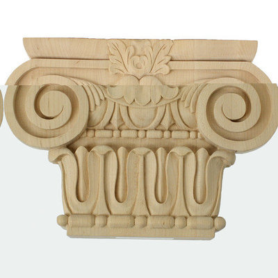 Ekena Millwork 10.8-in Stain Grade Lindenwood Decorative Capital Accent CAP10X02X07BRLW