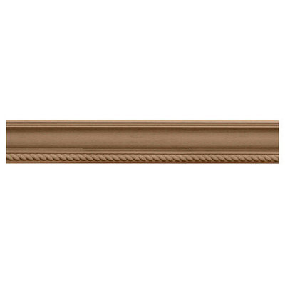 Ekena Millwork 2.25-in x 2.28-in x 8-ft Interior/Exterior Stain Grade Knotty Alder Crown Moulding (Pattern 171065) MLD02X02X03ADAL
