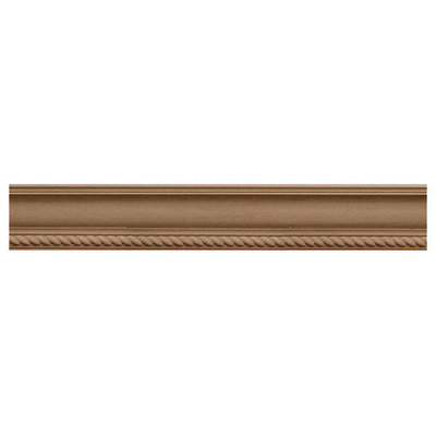 Ekena Millwork 2.25-in x 2.28-in x 8-ft Interior/Exterior Stain Grade Cherry Crown Moulding (Pattern 171066) MLD02X02X03ADCH