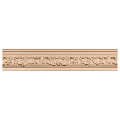 Ekena Millwork 2.25-in x 2.28-in x 8-ft Interior/Exterior Stain Grade Cherry Crown Moulding (Pattern 171051) MLD02X02X03MECH