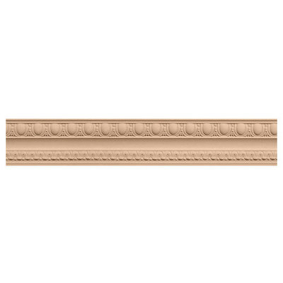 Ekena Millwork 3-in x 3-in x 8-ft Interior/Exterior Stain Grade Maple Crown Moulding (Pattern 171037) MLD03X02X03BEMA