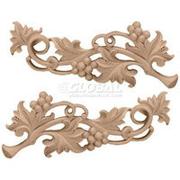Ekena Millwork 11.625-in x 4.625-in Rose Scrolls Wood Applique