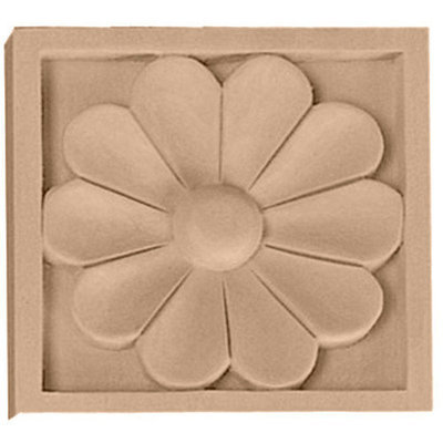 Ekena Millwork Small Medway Square Wood Rosette ROS03X03MEAL