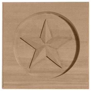 Ekena Millwork Austin Star Square Wood Rosette ROS04X04AUAL