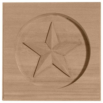Ekena Millwork Austin Star Square Wood Rosette ROS06X06AUCH