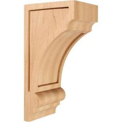 Ekena Millwork 4-in x 10-in Maple Diane Recessed Wood Corbel