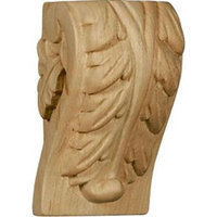 Ekena Millwork 1.75-in x 3-in Maple Acanthus Wood Corbel