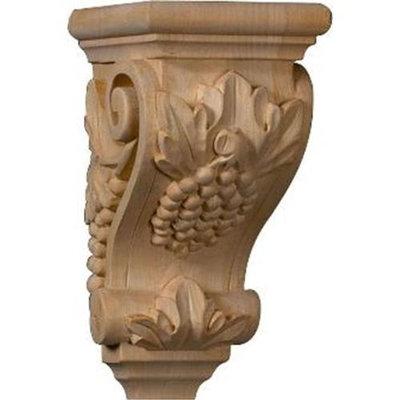 Ekena Millwork 3.5-in x 7-in Alder Grape Wood Corbel