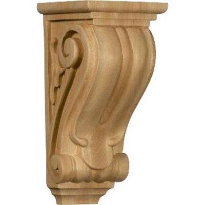 Ekena Millwork 4.5-in x 10-in Red Oak Classical Wood Corbel