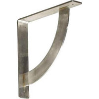 Ekena Millwork Bulwark 12-in x 2-in x 12-in Stainless Steel Countertop Support Bracket BKTM02X12X12BUSS
