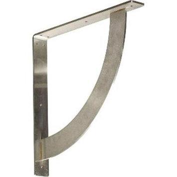 Ekena Millwork Bulwark 16-in x 2-in x 16-in Stainless Steel Countertop Support Bracket BKTM02X16X16BUSS