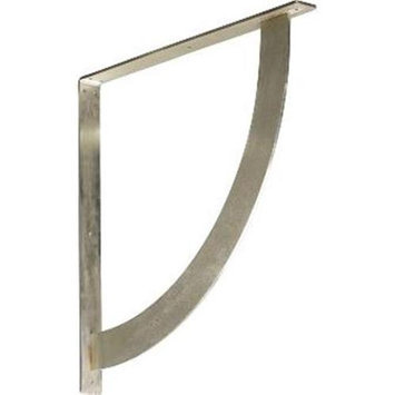 Ekena Millwork Bulwark 24-in x 2-in x 24-in Stainless Steel Countertop Support Bracket BKTM02X24X24BUSS