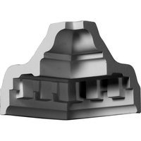 Ekena Millwork 3.38-in x 4.75-in Polyurethane Inside Corner Crown Moulding Block MIC03X03DE