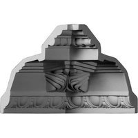 Ekena Millwork 5.25-in x 7.38-in Polyurethane Inside Corner Crown Moulding Block MIC05X05AT