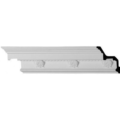 Ekena Millwork 4.125-in x 7.88-ft Polyurethane Cole Crown Moulding MLD04X05X07CO