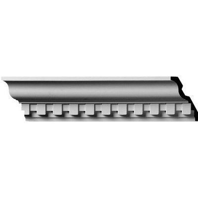 Ekena Millwork 4.625-in x 8-ft Polyurethane Dentil Crown Moulding MLD05X03X05DE
