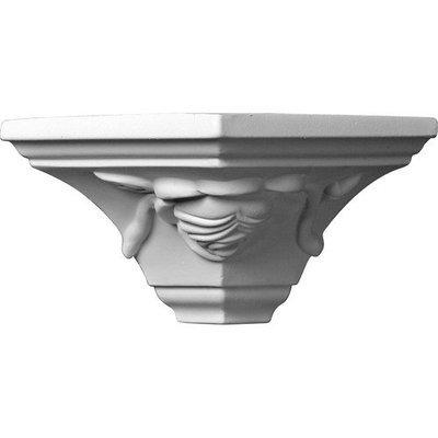 Ekena Millwork 3.25-in x 5.25-in Polyurethane Outside Corner Crown Moulding Block MOC03X03BU