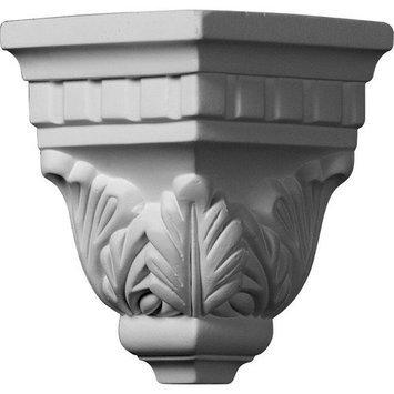 Ekena Millwork 4.5-in x 4.63-in Polyurethane Outside Corner Crown Moulding Block MOC03X04DE
