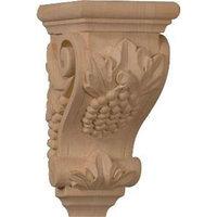 Ekena Millwork 3.5-in x 7-in Walnut Grape Wood Corbel