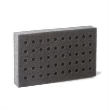 Bio Plas 0010 Foam Test Tube Racks for 10x75mm 12x75mm & 13x100mm Tubes - Charcoal - 6 pk
