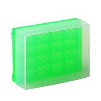 Bio Plas 0031F 96 Well Preparation Rack W Cover - 5 pk - Fluorescent Green