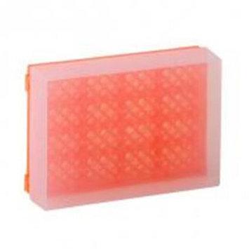 Bio Plas 0032F 96 Well Preparation Rack W Cover - 5 pk - Fluorescent Orange