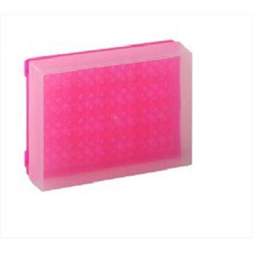 Bio Plas 0033F 96 Well Preparation Rack W Cover - 5 pk - Fluorescent Pink