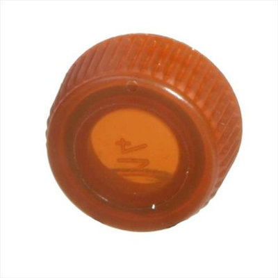 Bio Plas 4224R Screw Cap With O-Ring for Bio Plas Screw Cap MCT - 1000 pk - Amber