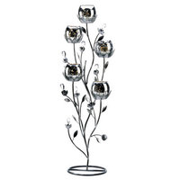 Silver Tulip Tree Candelabra