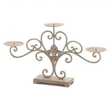 Home Locomotion Fleur-De-Lis Candle Stand