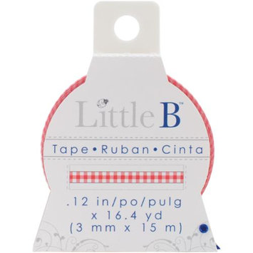 Little B LBT3mm-003 Little B Decorative Paper Tape 3mmx15m-Red Gingham