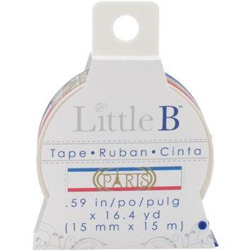Little B LBT15mm-055 Little B Decorative Paper Tape 15mmx15m-Paris