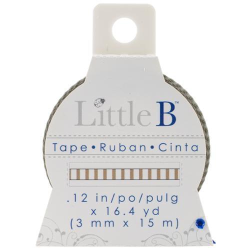 Little B LBT3mm-189 Little B Decorative Paper Tape 3mmx15m-Thin Gold Stripes