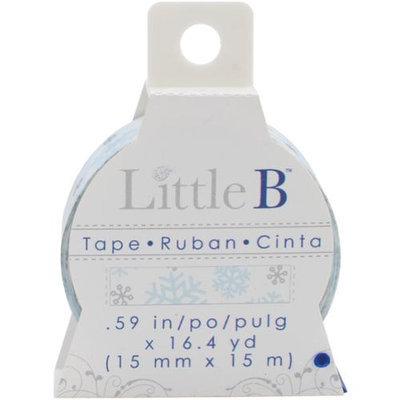 Little B LBT15mm-193 Little B Decorative Paper Tape 15mmx15m-Winter Snowflakes