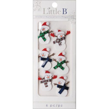 Little B LBMINI-211 Mini Stickers-Snowmen